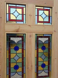STAINED GLASS EXTERNAL DOORS