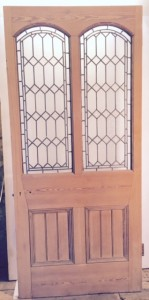 SOLID PINE DOOR PAINTED WHITE EMPRESS SAFETY GLASS INTERIOR