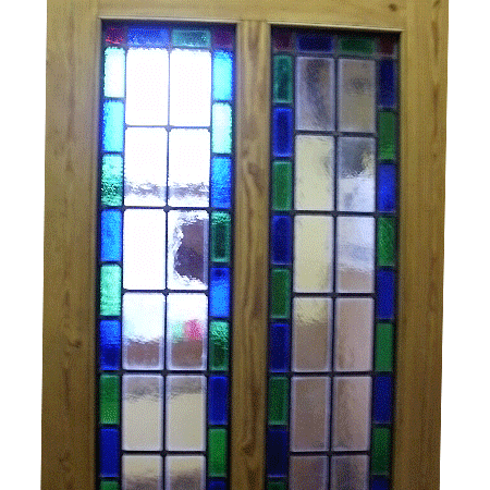 Stained Glass Doors Made To Measure Bespoke Size Original Pine