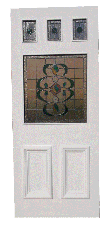 stained glass external door