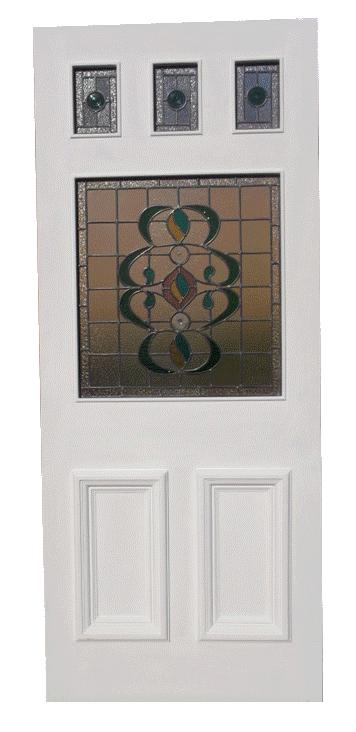 stained glass external door