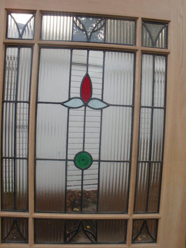 9 panel period stained glass doors surrey door company for 10 panel glass door