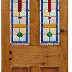 Louis Stained Glass Pine Door