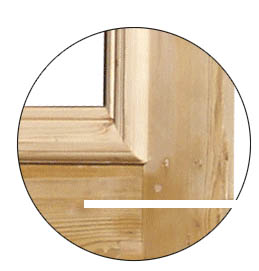 Made to measure stained pine door period projects