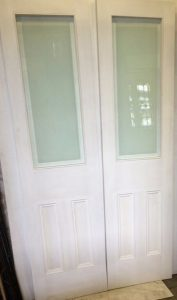 Etched Glass Internal Double Doors Cornwall