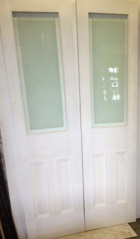 Etched Glass Internal Double Doors Cornwall Period Projects Hampshire