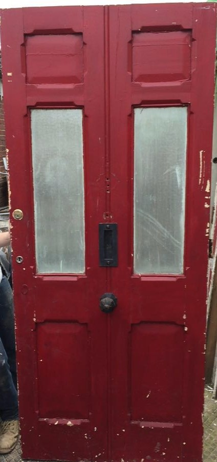 victorian reclaimed pine external door yorkshire