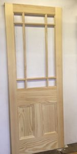 door Unfinished 9 panel Door Pine door
