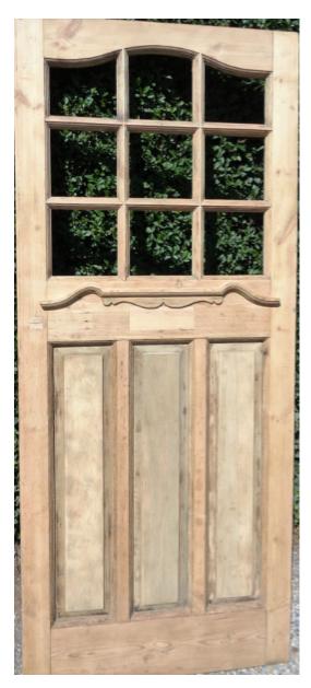 lightbox & Original 1930 Door Pine - Hand Stripped - 35