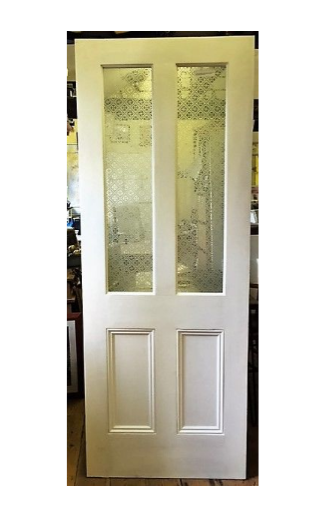 Solid Pine Door Painted White Empress Safety Glass Interior Stunning